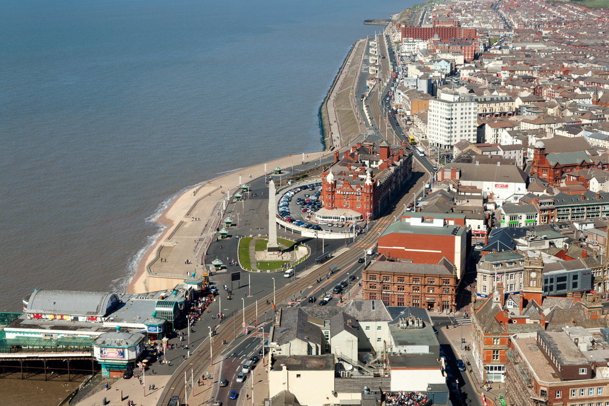 Photograph of The View From The Blackpool Tower Eye