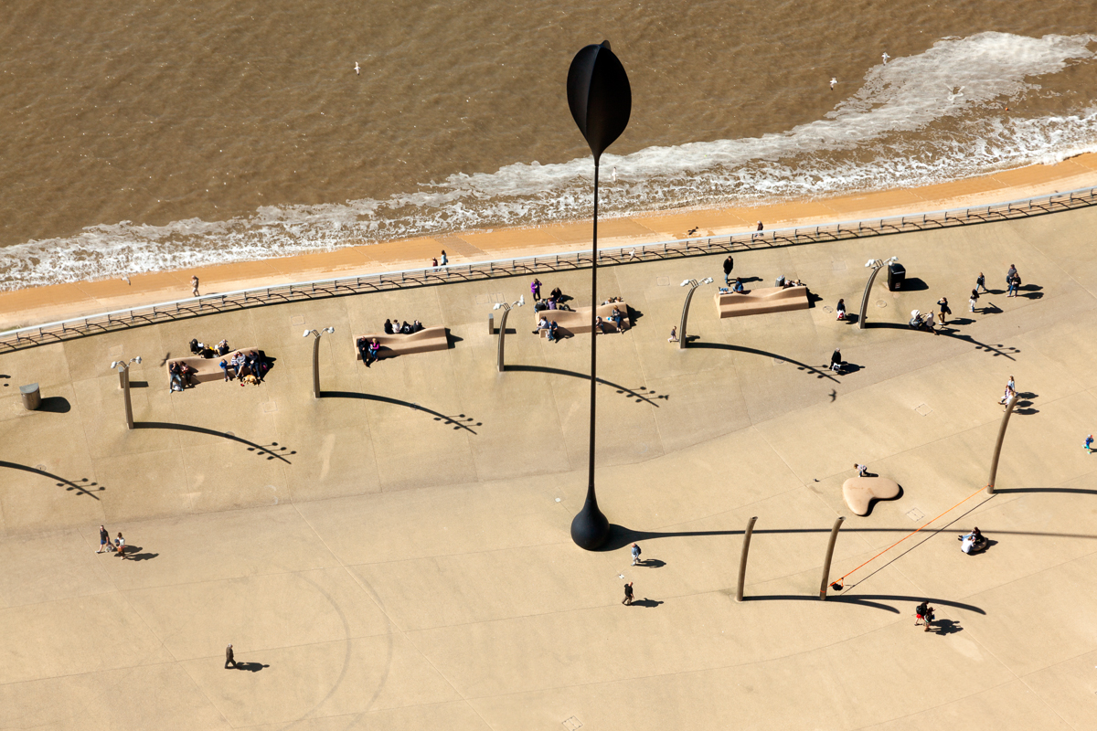 Giant Blade of Grass - Aerial Photographs of Blackpool by Yannick Dixon