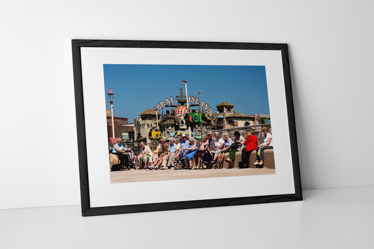 Blackpool Revellers Limited Edition Photographic Print Presented In A Black Frame
