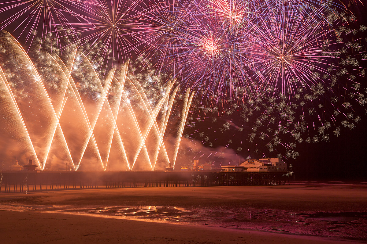 Titanium Fireworks Display at Blackpool World Fireworks Championship 2014
