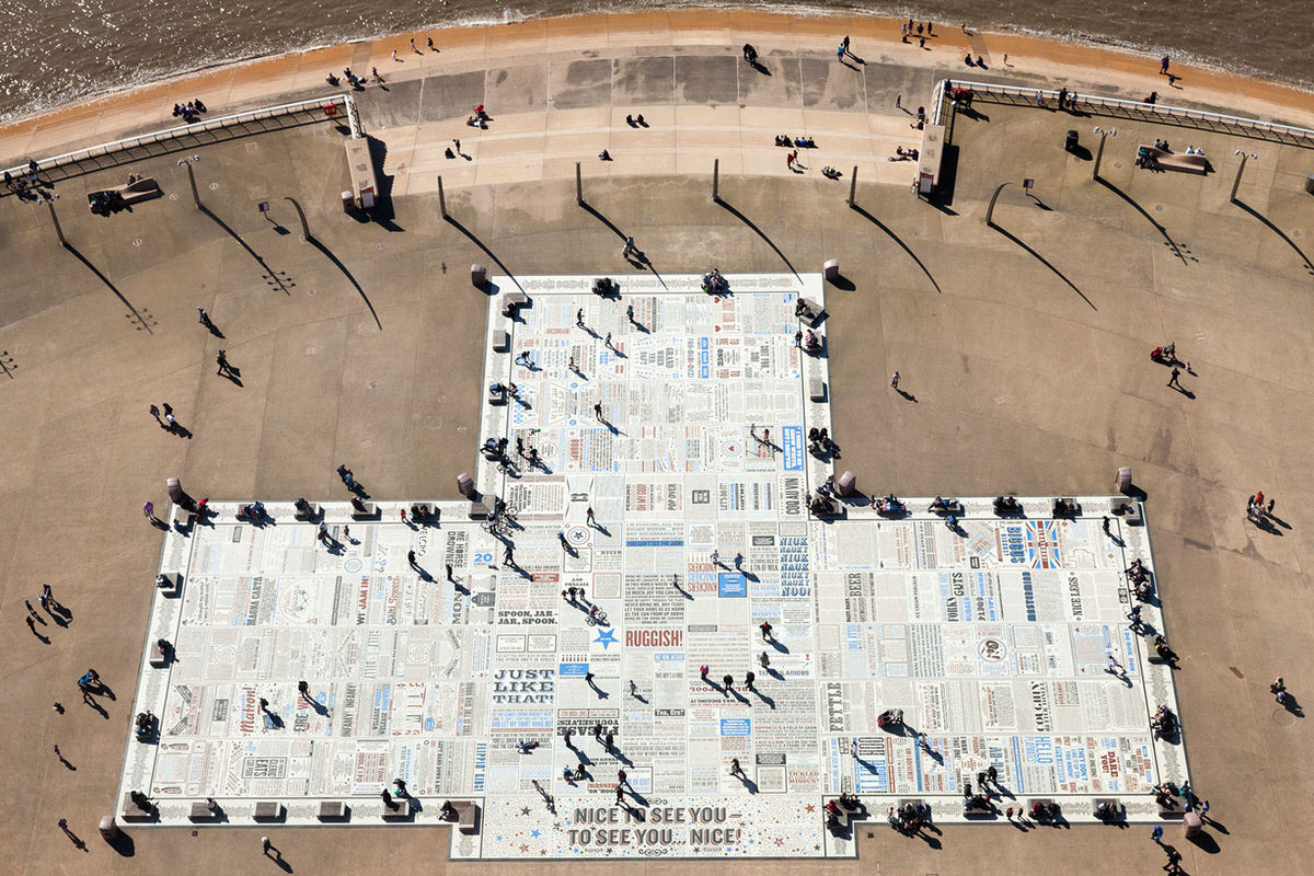 Comedy Carpet - Aerial Photographs of Blackpool By Yannick Dixon