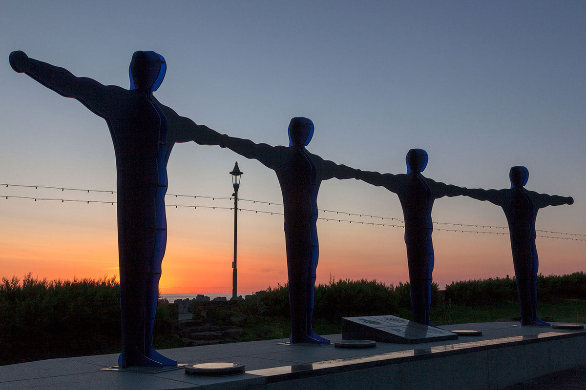Blackpool Hero Monuments At Sunset