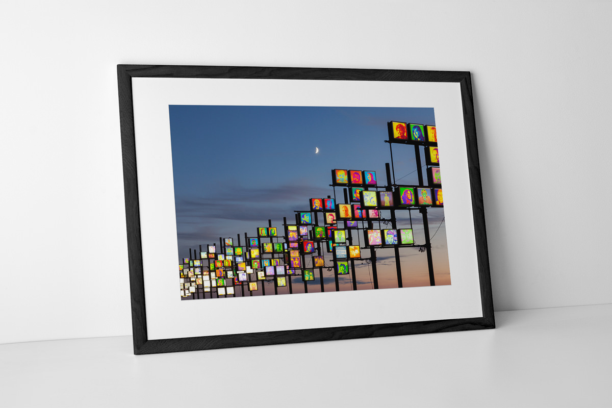 Blackpool Illuminations Headlights Photographic Print In Black Frame By Yannick Dixon