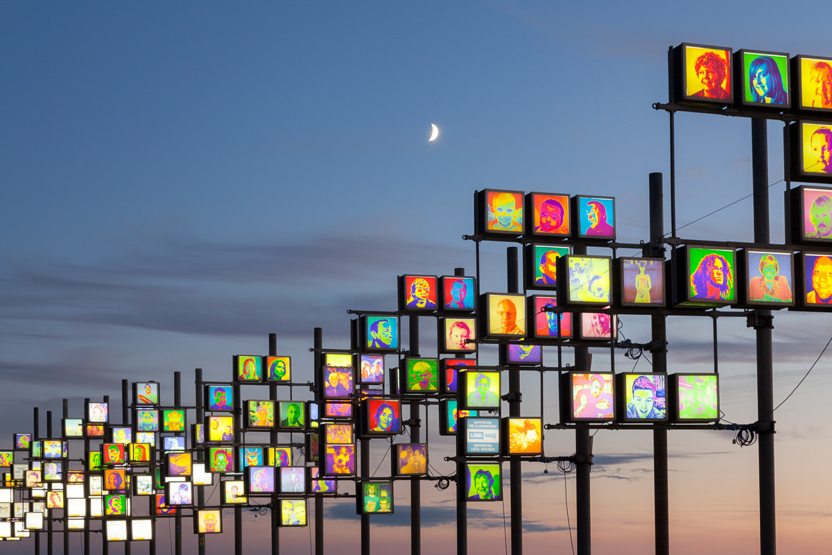 Blackpool Illuminations Headlights Photographic Print By Yannick Dixon