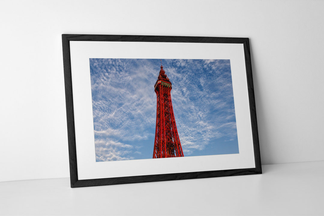 Blackpool Tower Photographic Print In Black Frame By Yannick Dixon