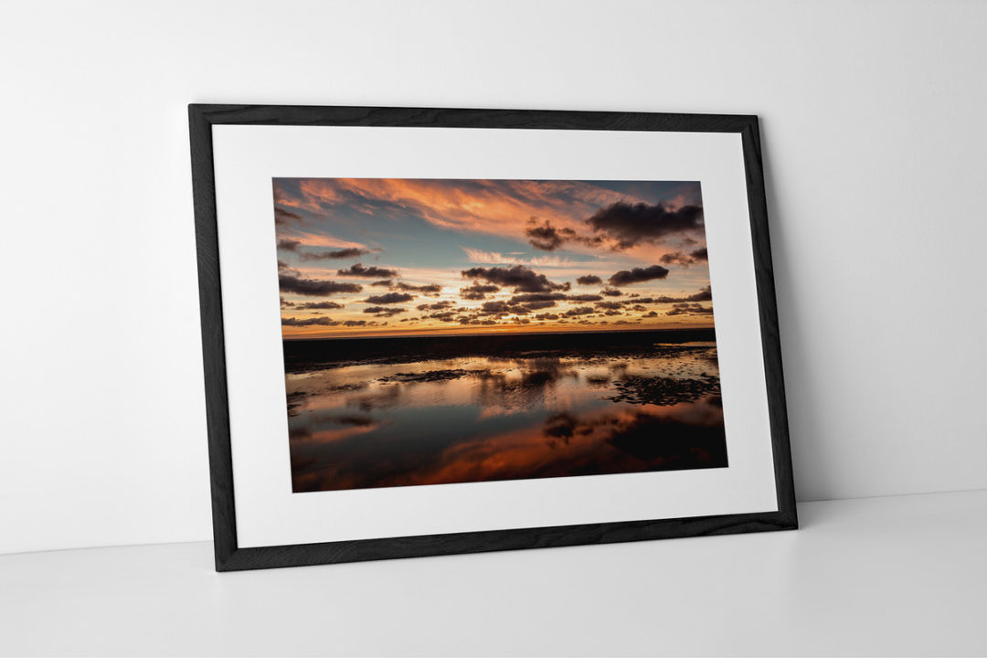 Blackpool Sunset Clouds Photographic Print In Black Frame By Yannick Dixon