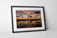 Blackpool Sunset Clouds Photographic Print In Black Frame
