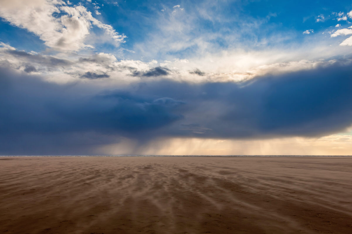 Storm Clouds Above A Seaside Sandstorm - Wild Weather - Photography By Yannick Dixon