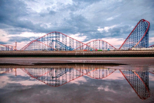 Pleasure Beach Reflection Photographic Print By Yannick Dixon