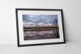 Pleasure Beach Reflection Photographic Print In Black Frame