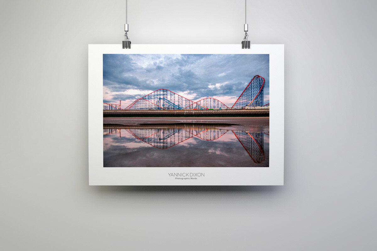 Pleasure Beach Reflection Photographic Print