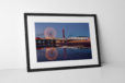 Reflections of Blackpool Photographic Print In Black Frame