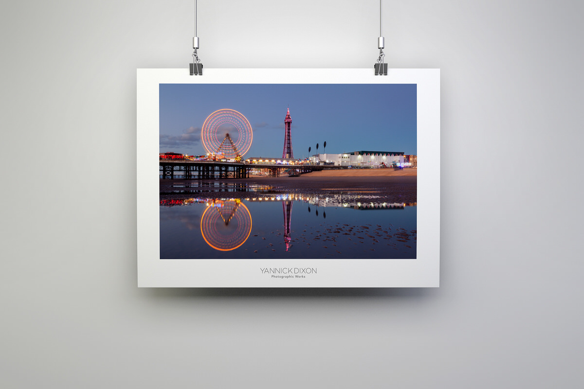 Reflections of Blackpool Photographic Print