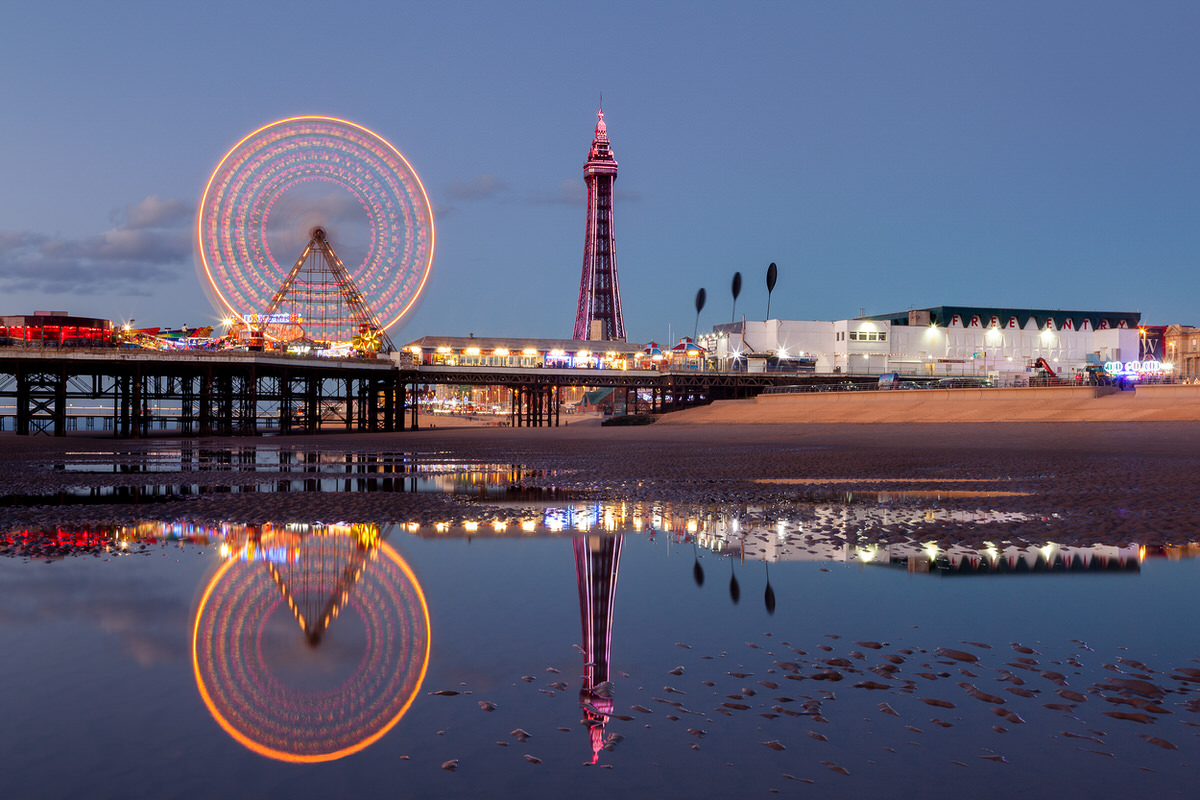 Reflections of Blackpool Photographic Print By Yannick Dixon