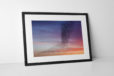 Starlings Purple Sky Photographic Print In Black Frame