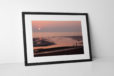 Blackpool Sunset Silhouettes Photographic Print In Black Frame