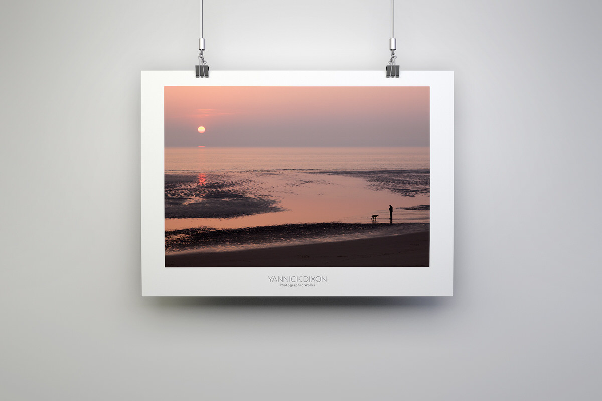 Blackpool Sunset Silhouettes Photographic Print