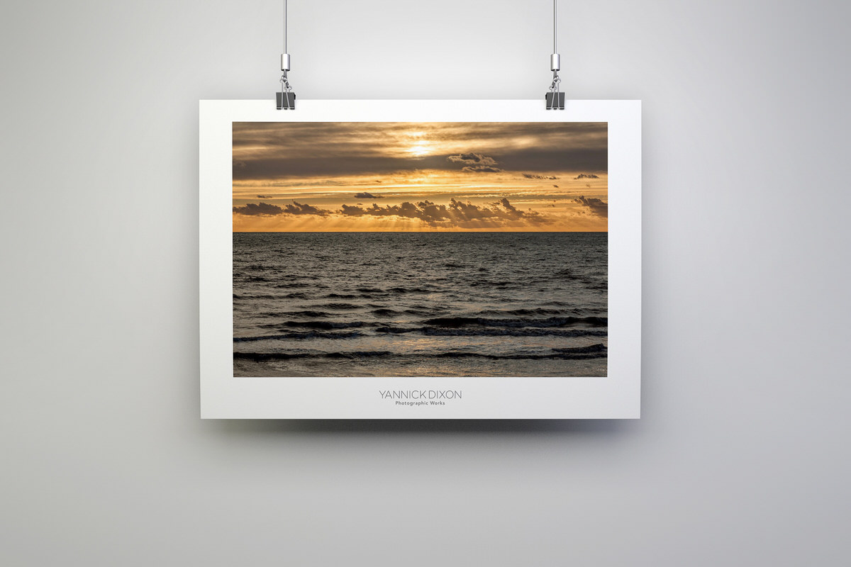 Seaside Sun Rays Photographic Print