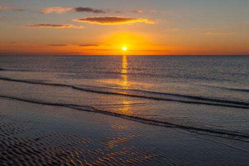 Golden Seaside Sunset By Yannick Dixon