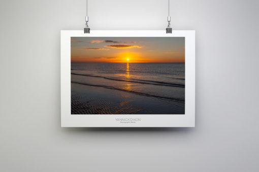 Golden Seaside Sunset Photographic Print By Yannick Dixon