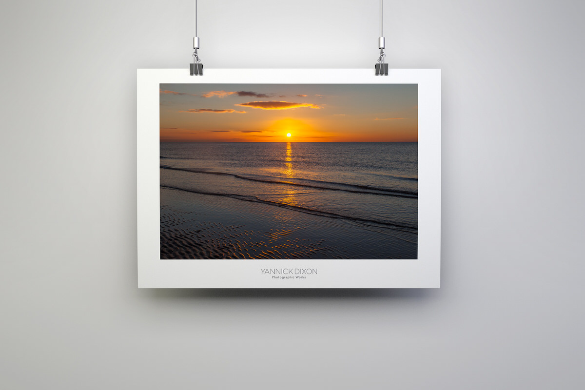 Golden Seaside Sunset Photographic Print