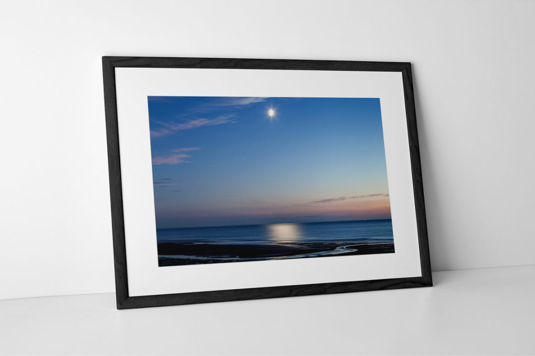 Shimmering Moonlight Photographic Print Presented In A Black Frame