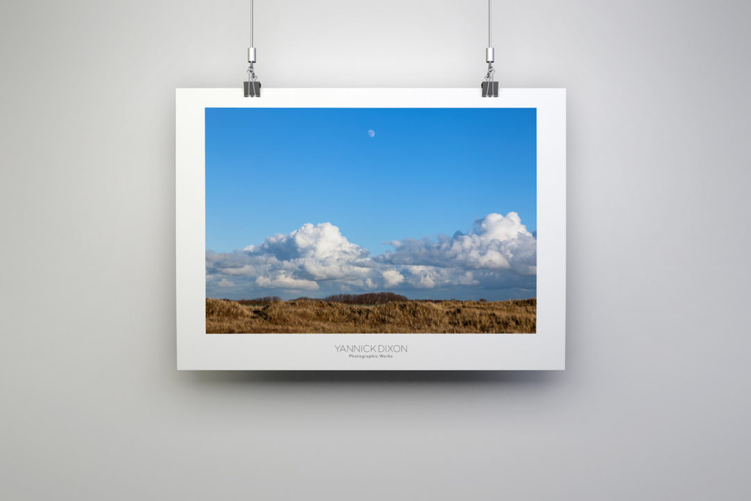 Mid-Afternoon Gibbous Moon Print By Yannick Dixon
