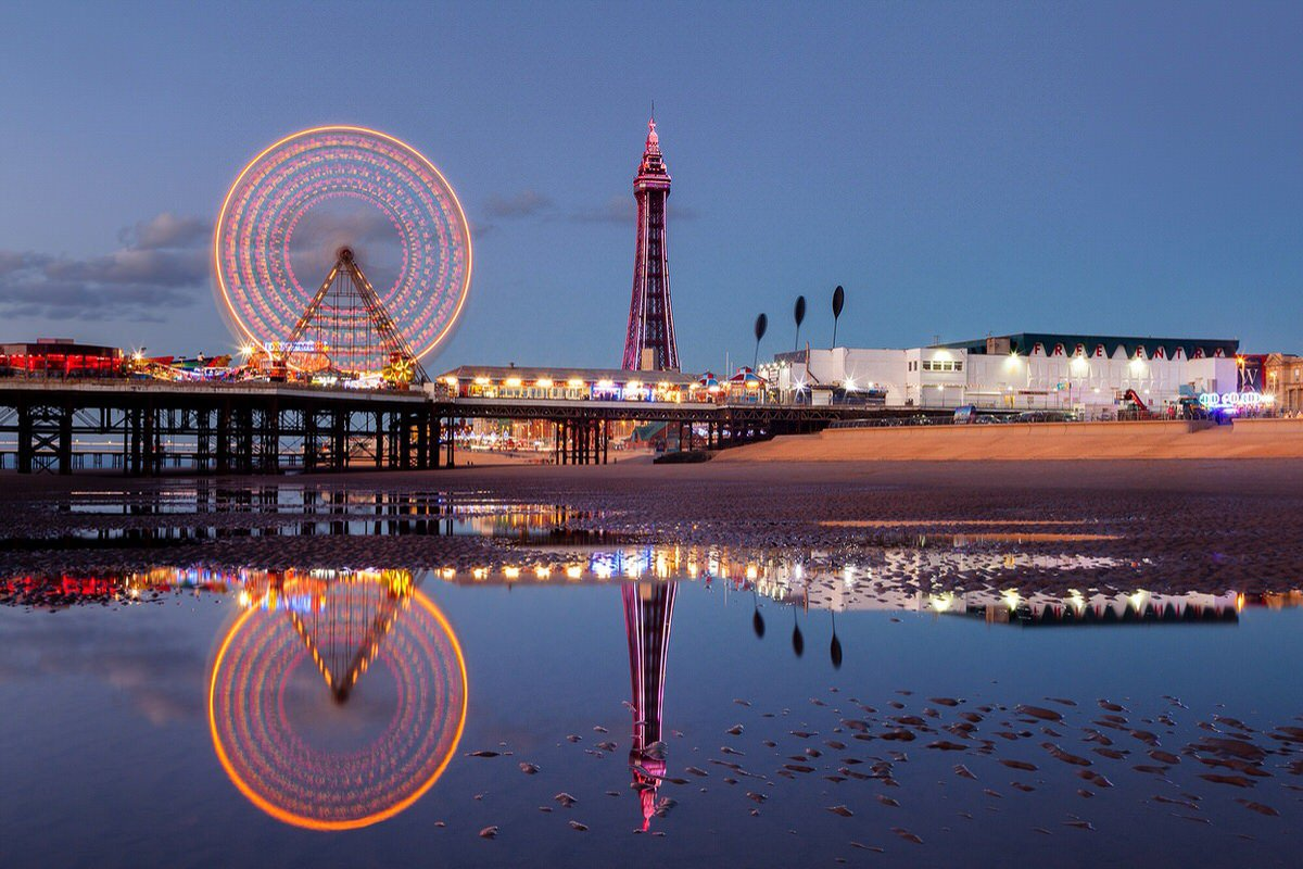 Reflections of Blackpool Photograph
